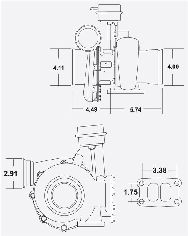 BorgWarner S300GX Turbo Upgrade DODGE D250