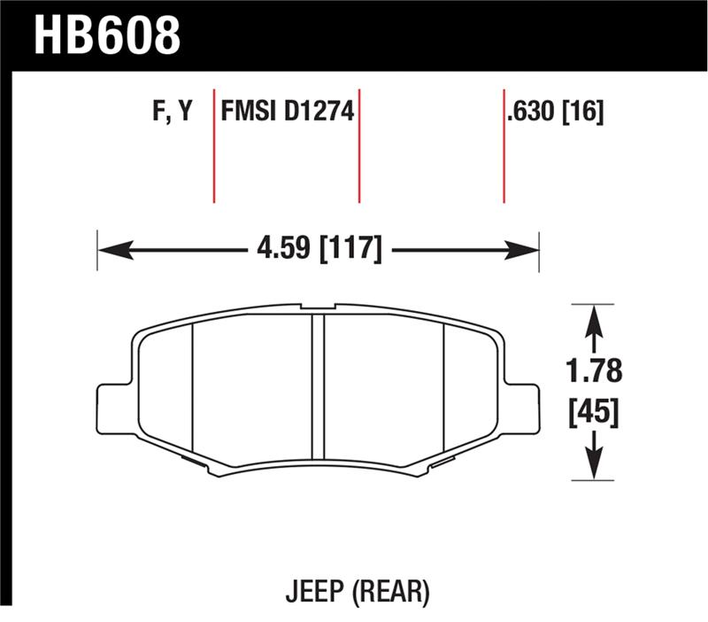 Hawk HPS 5.0 Brake Pads DODGE NITRO