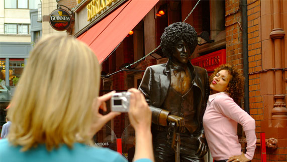 Phil Lynott statue, Harry Street, Dublin