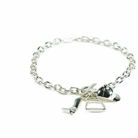 Hiho Silver Sterling Silver Bracelet with Equestrian