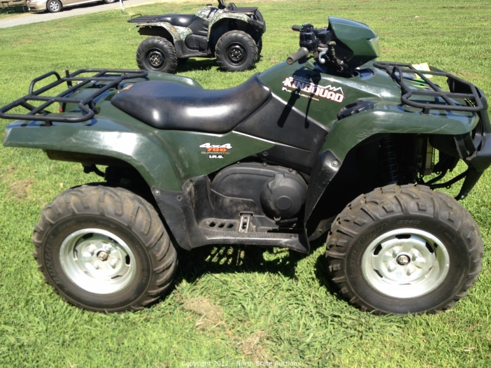 medium resolution of north state auctions auction consignment auction of atvs utvs motorcycles and trailers item 2005 suzuki king quad 700 4x4 fuel injected