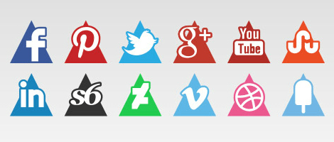 social-media-triangles