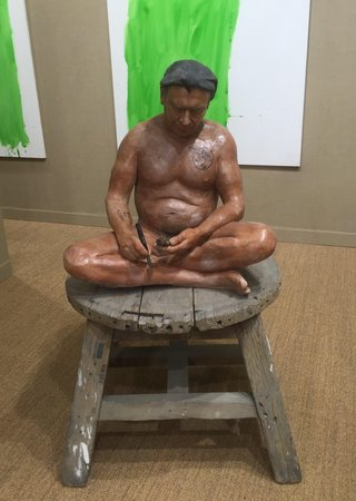 PAWEŁ ALTHAMER Seated sculpture 2016 at neugerriemschneider (Berlin) at Art Basel