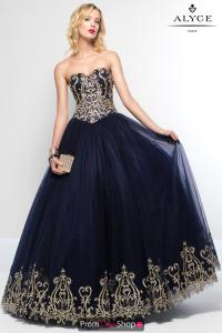 Alyce Paris Long Tulle Dress 6666