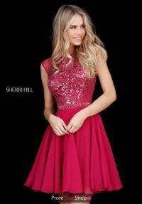 Sherri Hill Short Dress 51293 | PromDressShop.com