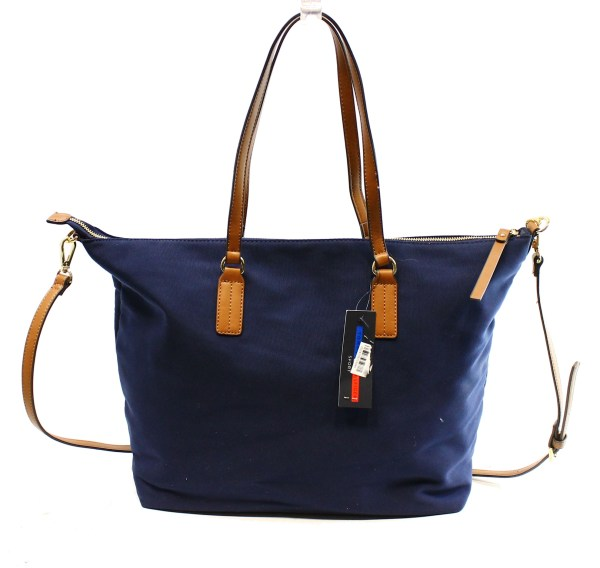 Tommy Hilfiger Navy Blue Zip Top Women' Satchel