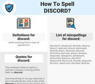 how to spell discord