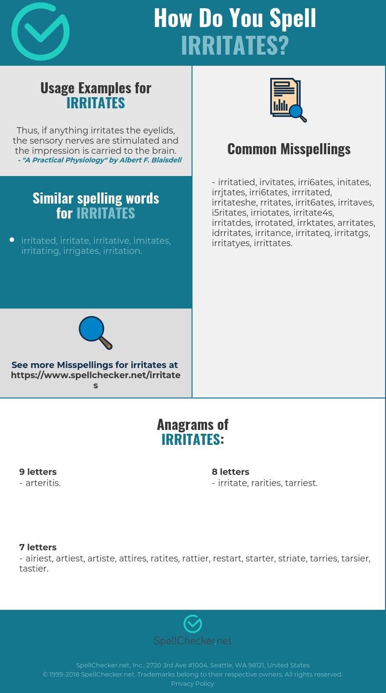 Correct spelling for irritates [Infographic ...