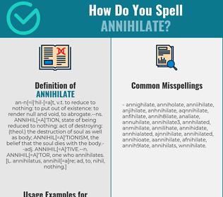 Correct spelling for annihilate [Infographic] | Spellchecker.net