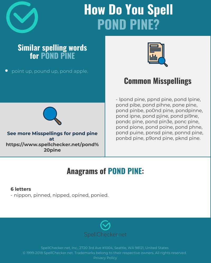 How Do You Spell Pond : spell, Correct, Spelling, [Infographic], Spellchecker.net
