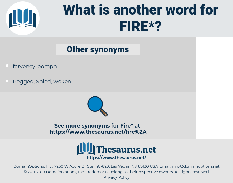 Synonyms for FIRE - Thesaurus.net