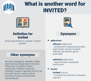 Invited Synonym Another Word For Words Like Thesaurus