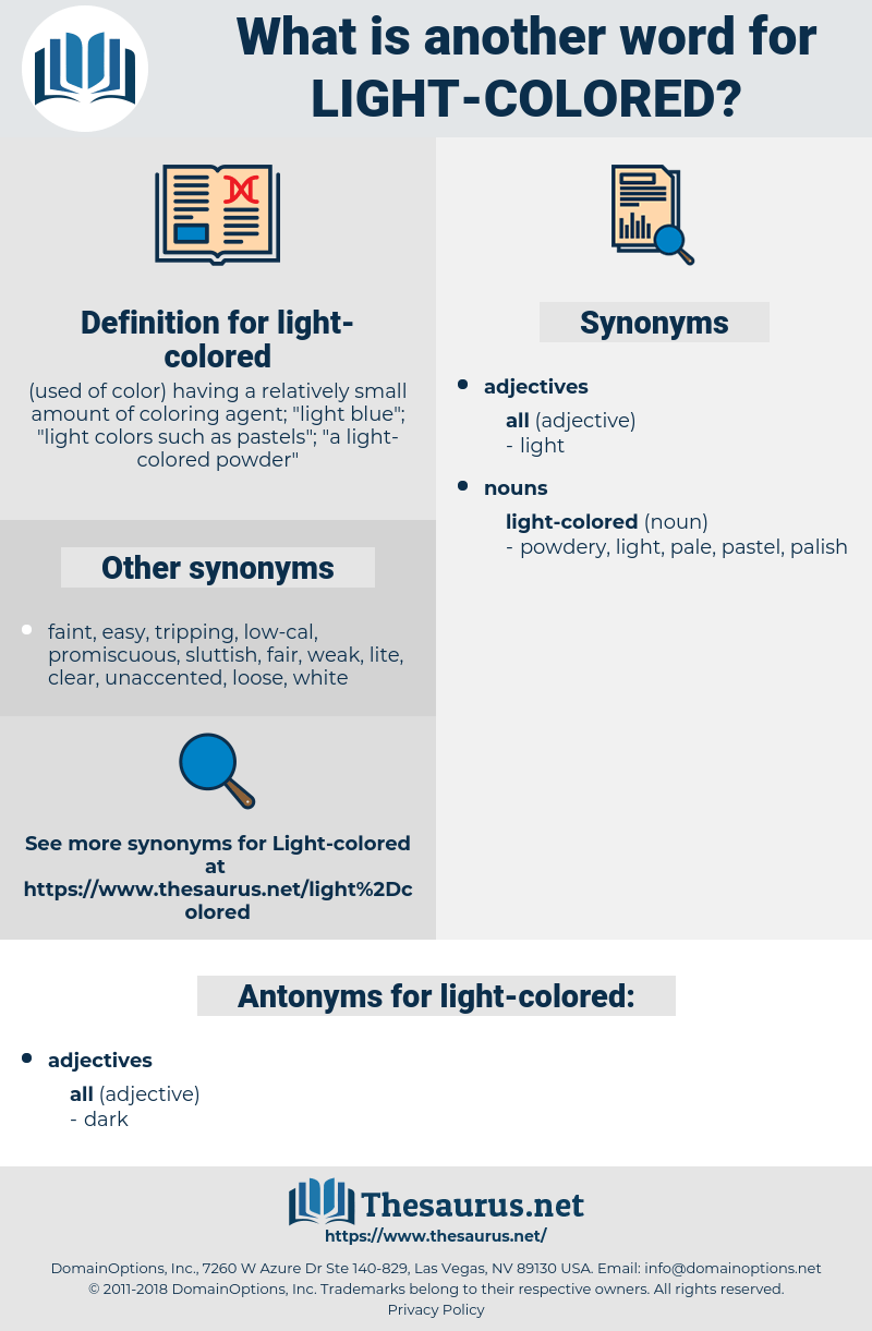 synonyms for light colored