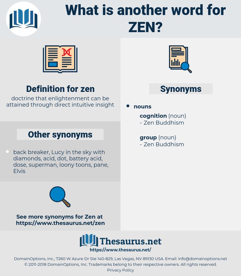 synonyms for zen thesaurus net