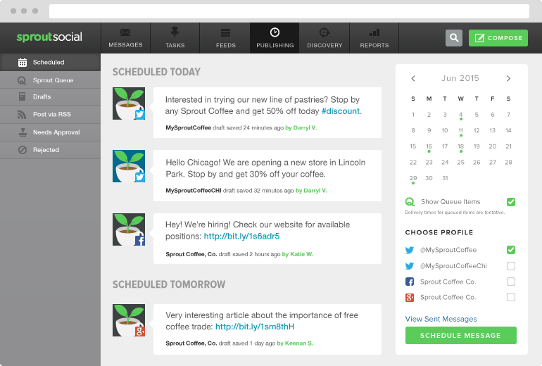 Sprout Social Scheduled Posts