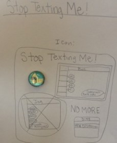 Kids design an app to help with excessive texting!