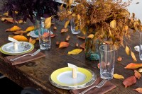 Inexpensive Thanksgiving Table Decorations | Vintage Mixer