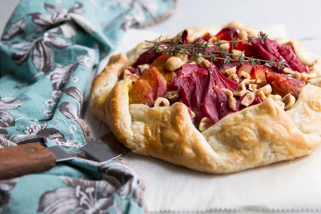 Beet Goat Cheese and Hazelnut Galette  Vintage Mixer