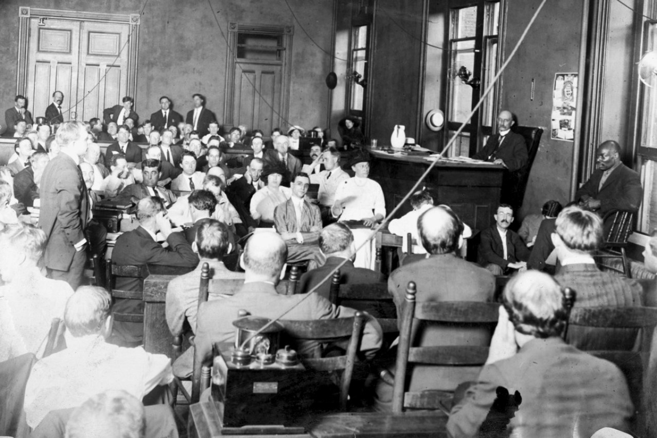Deliberations at the trial in 1913