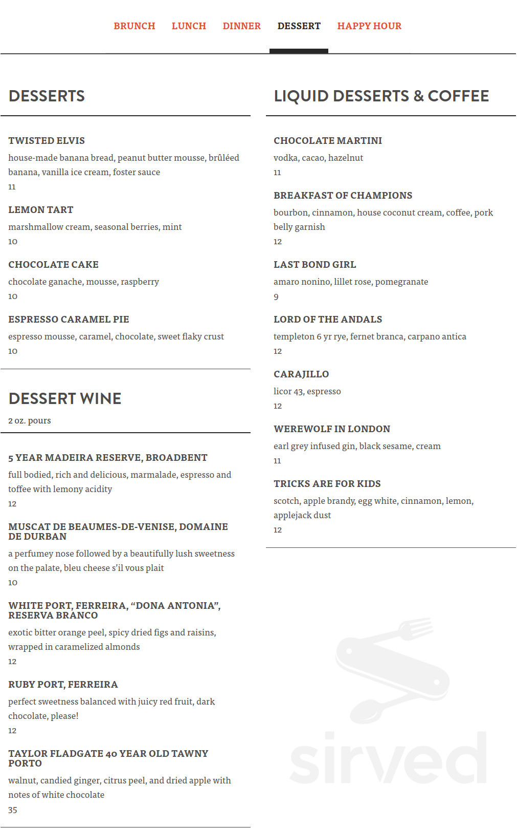 the patio on goldfinch menu in san