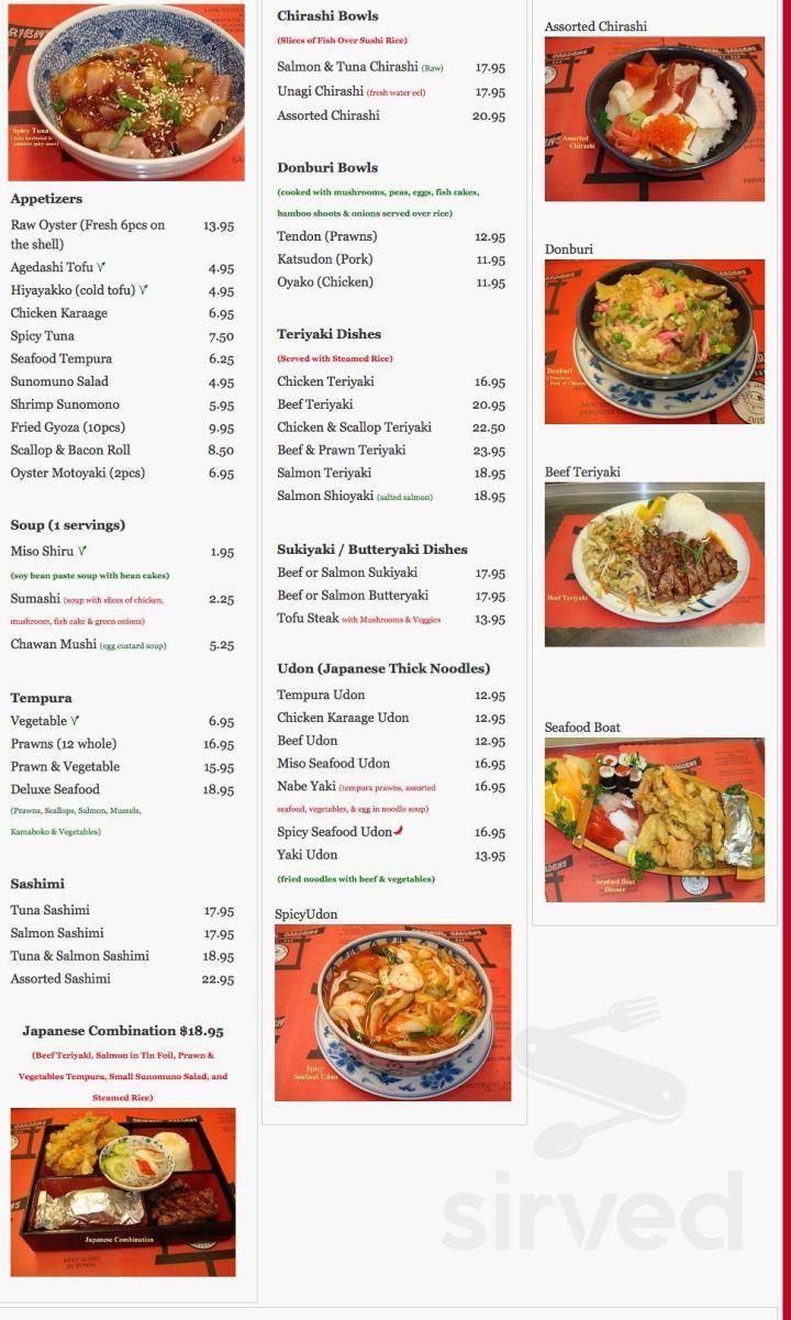 menu for oriental gardens restaurant ltd in kamloops