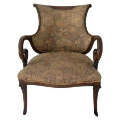 Vintage Arm Chair Antique Butler 1920s Mahogany Wood Aptdeco