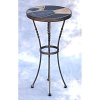 Mid Century Modern Slate Top Metal Base Side/End Table ...