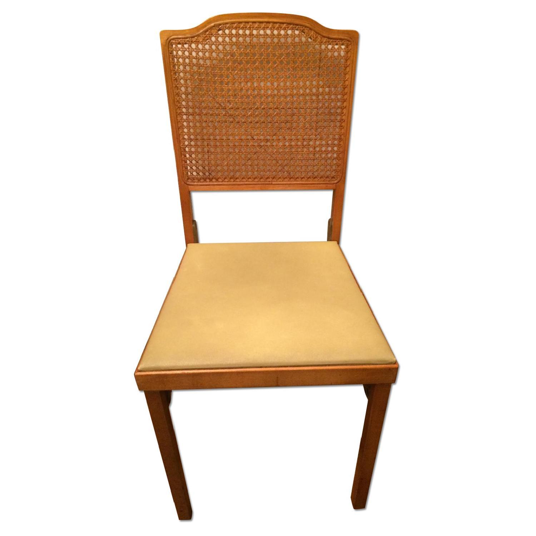 LegOMatic Wood Folding Chair w Cushioned Seats  AptDeco