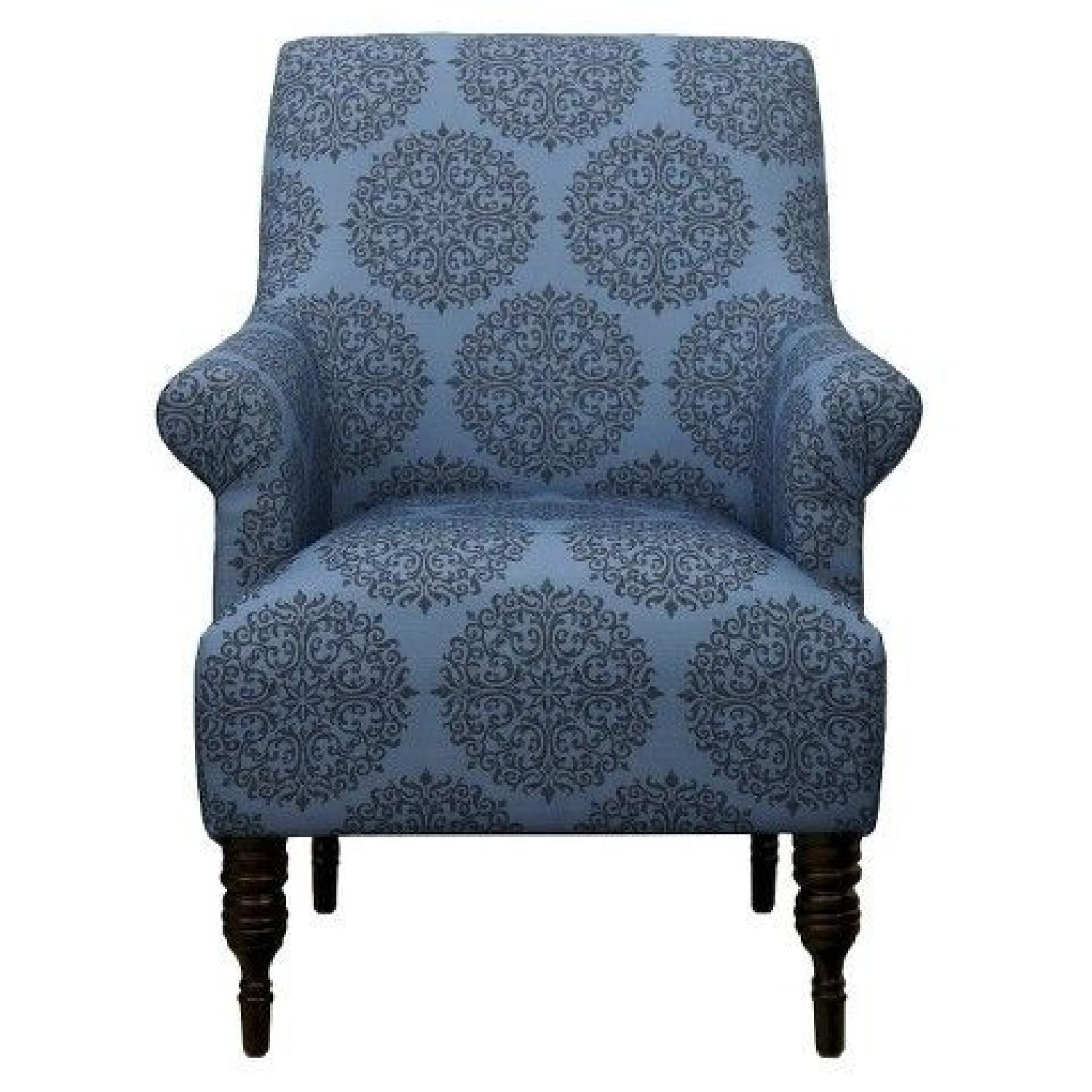 Target Candace Teal Medallion Upholstered Arm Chair  AptDeco