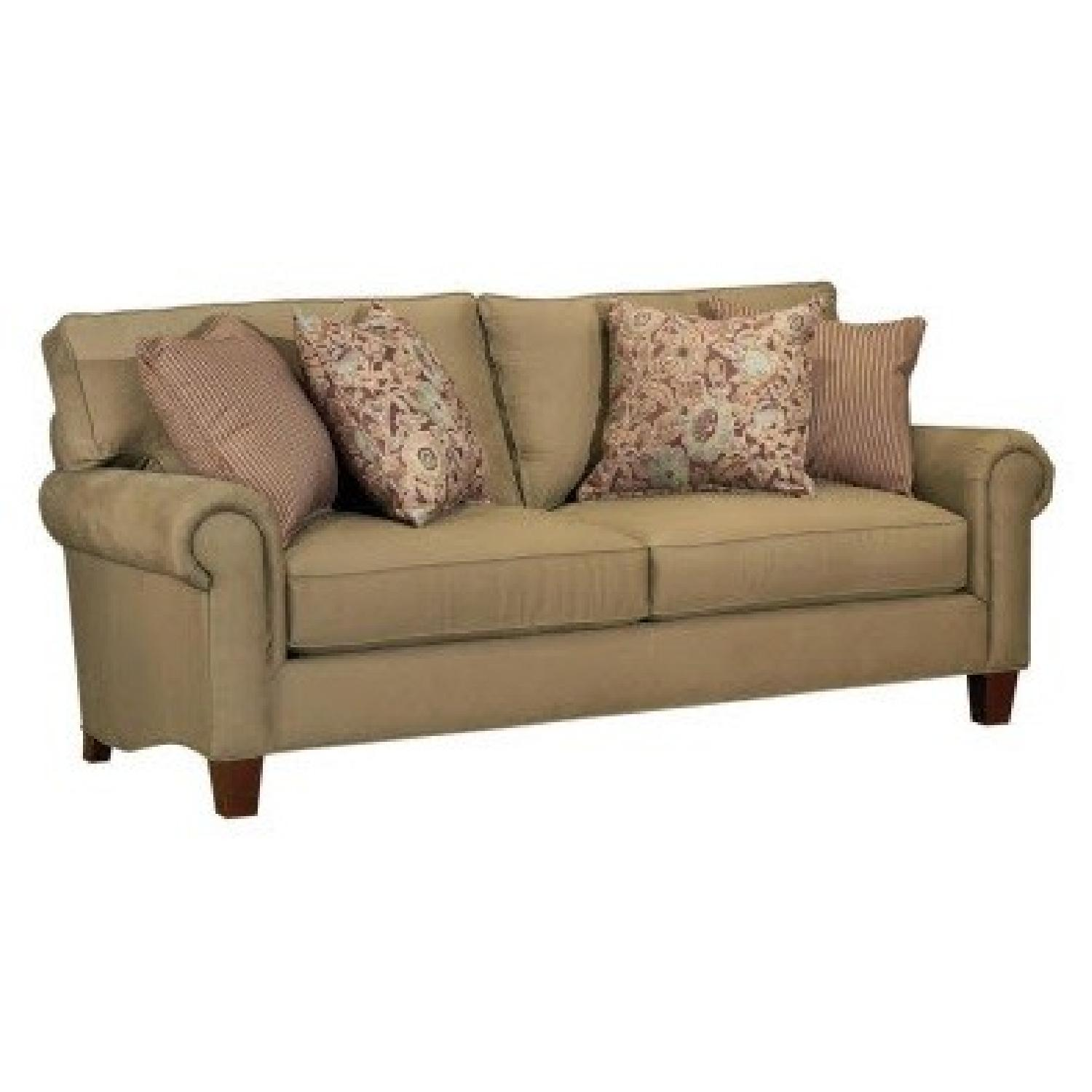 broyhill sleeper sofa modern red design chandler aptdeco