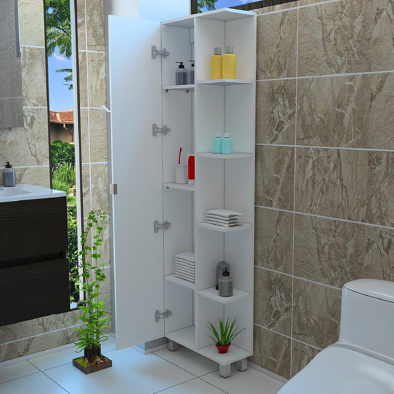 Tall Corner Bathroom Cabinet w 1 Door  AptDeco