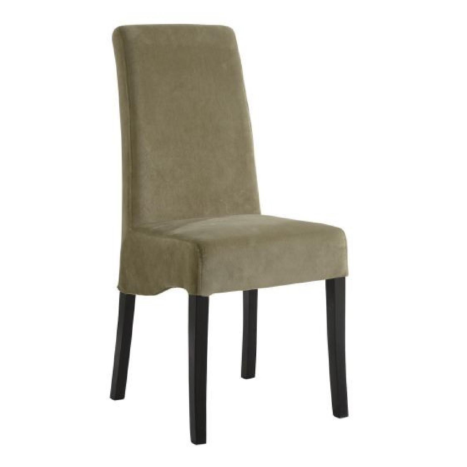 green upholstered dining chairs hire chair covers glasgow plush in fabric upholstery aptdeco