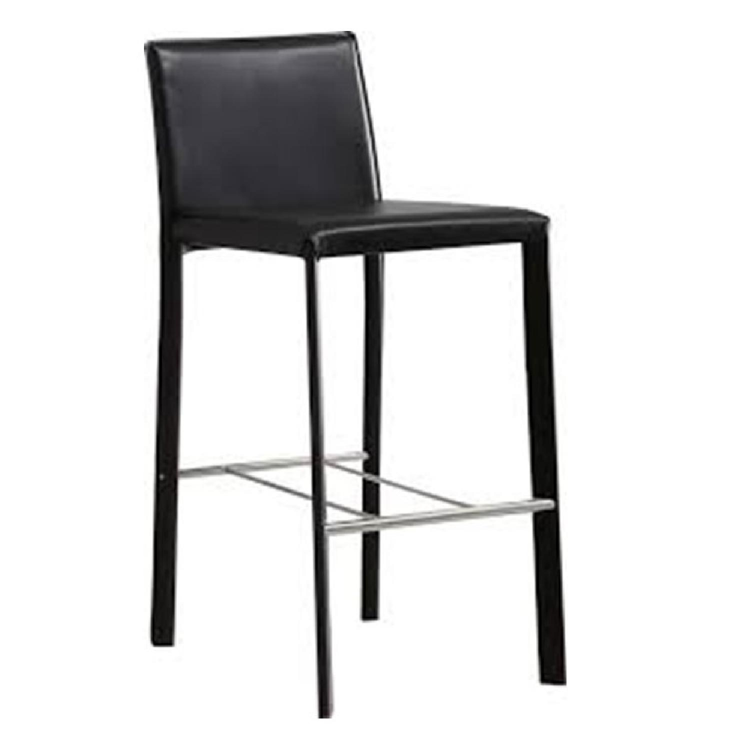 faux leather chair repair dining room high back chairs modern bar in black aptdeco
