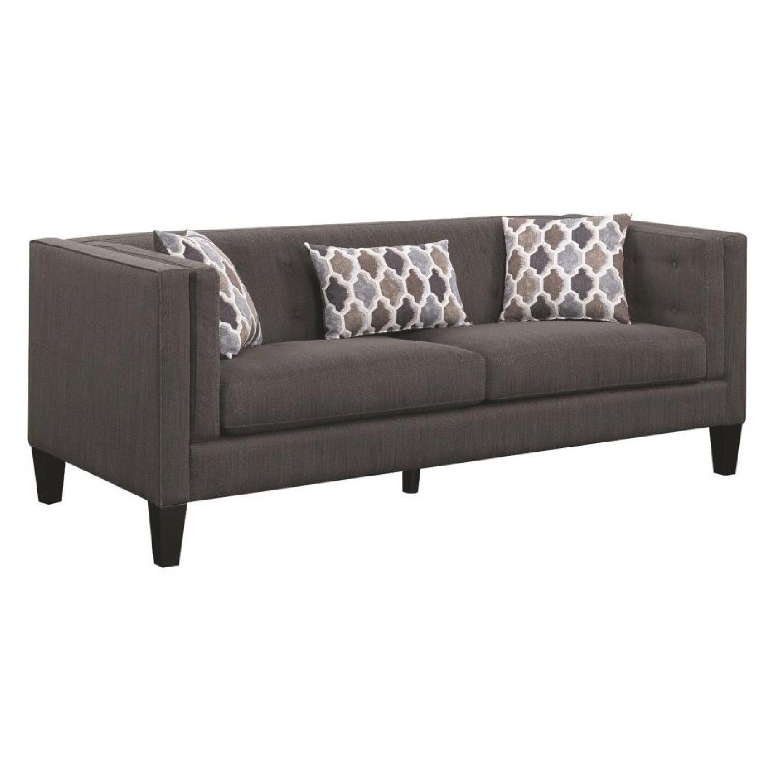 deconstructed shelter arm sofa review sectional sofas nj double cushion style w tufted and aptdeco