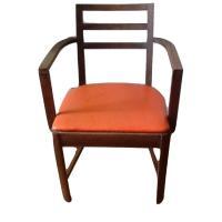 Mid-Century Orange Dining Side Chair - AptDeco