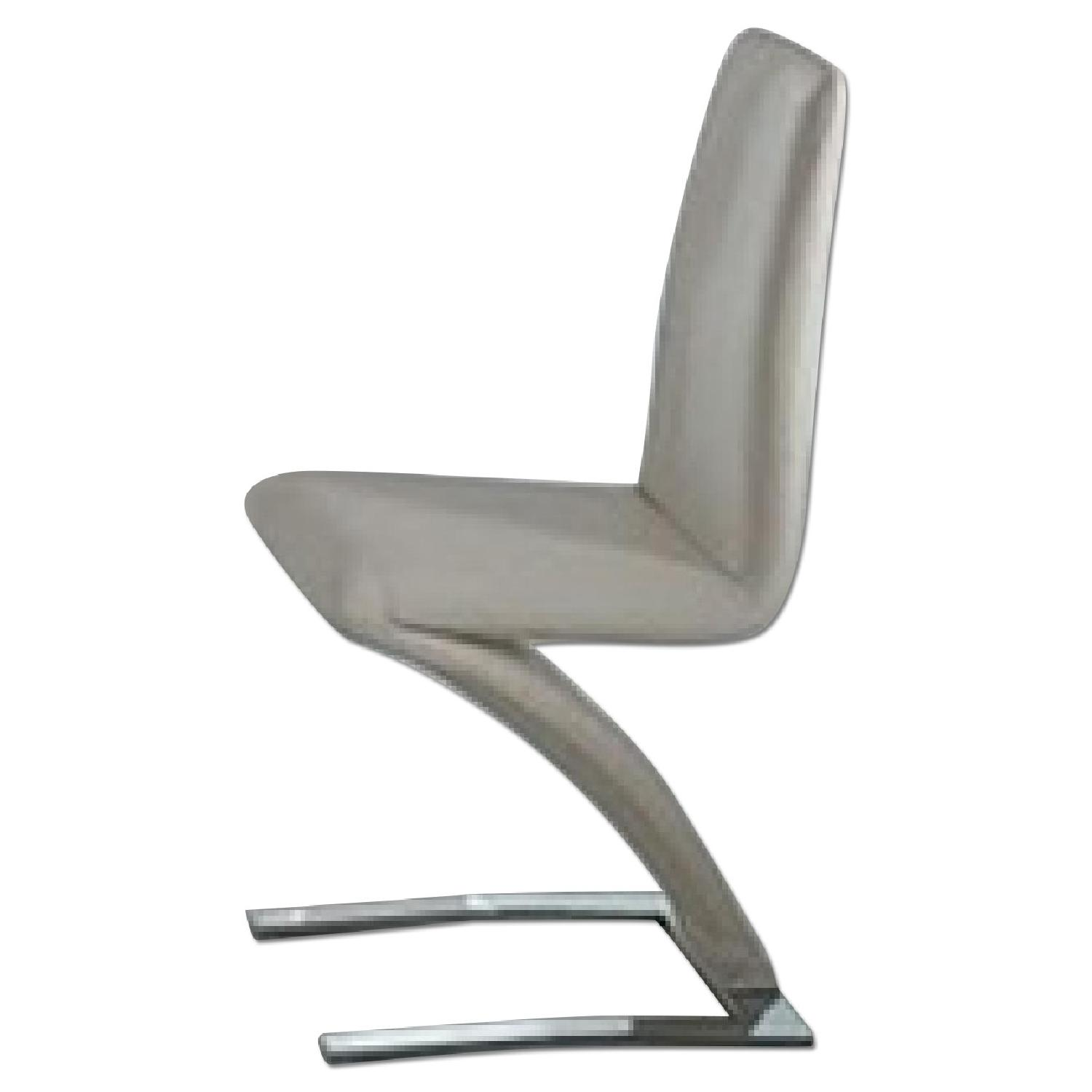 Off White Accent Chair Modern Accent Chair In Off White Leatherette W Z Base