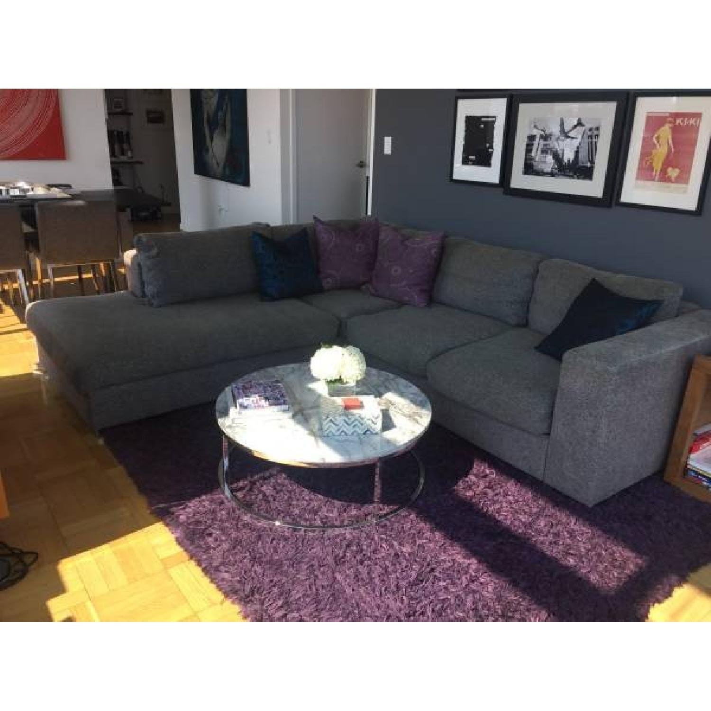 boconcept grey tweed sectional sofa