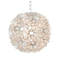 Worlds Away Venus Hanging Capiz Shell Pendant Lamp