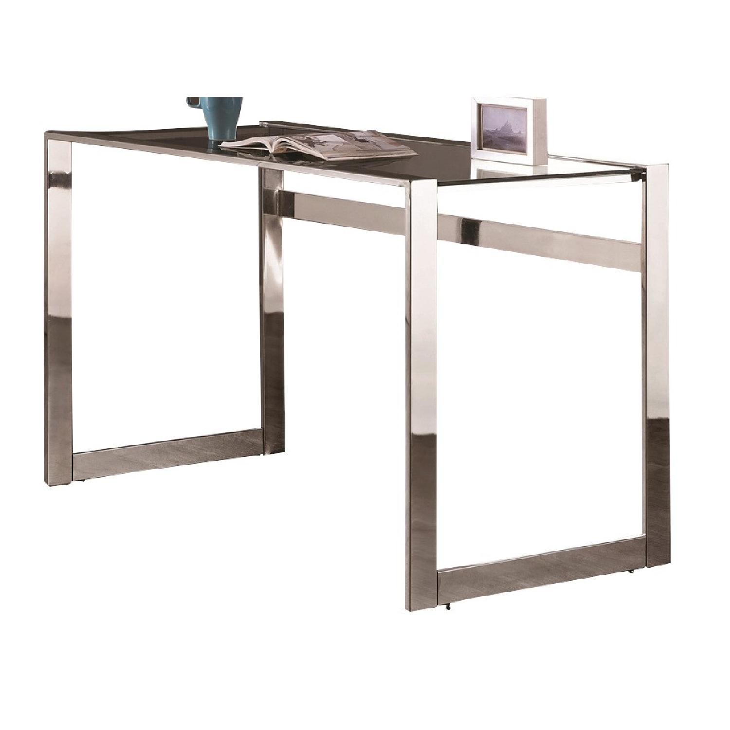 Coaster Desks Contemporary Computer Desk with Chrome  AptDeco