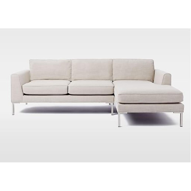 marco gray chaise sofa blue jean slipcover west elm 2 piece sectional aptdeco