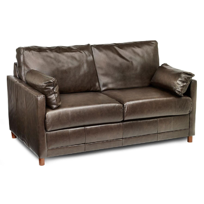Jennifer Convertibles Brown Leather Sleeper Sofa