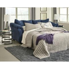 Ashley Furniture Darcy Sofa Sleeper Center Table Gl Top Blue Full Aptdeco