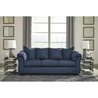 Ashley Darcy Blue Full Sofa Sleeper - AptDeco