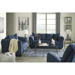 Ashley Furniture Darcy Sofa Sleeper Leather Lounge Melbourne Blue Full Aptdeco