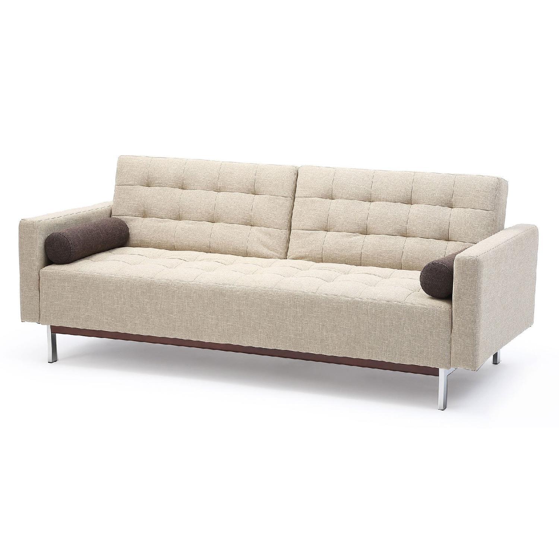 beige sleeper sofa steamer for cleaning bonaventura bed aptdeco