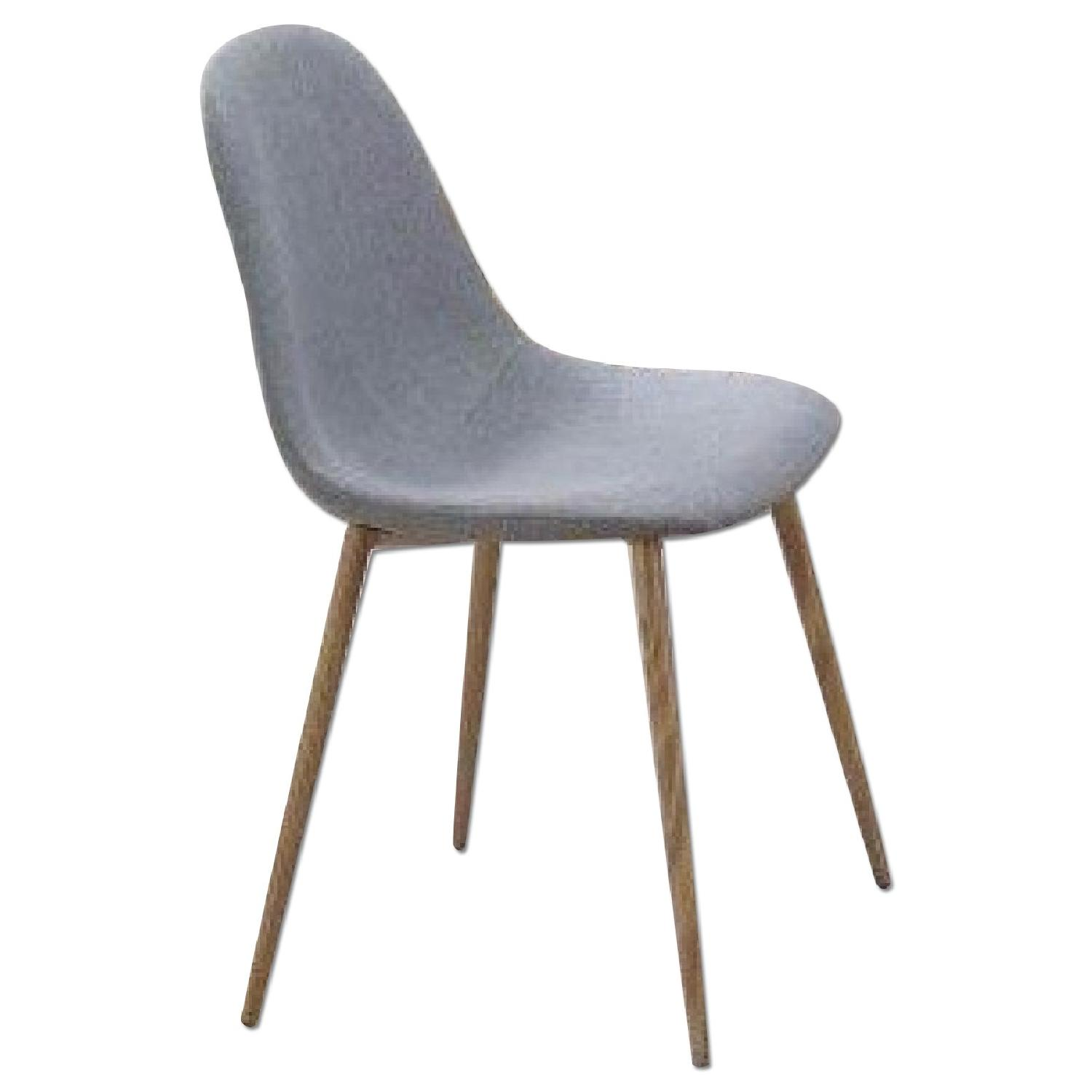 Woven Dining Chair Dining Chair Upholstered In Grey Woven Fabric