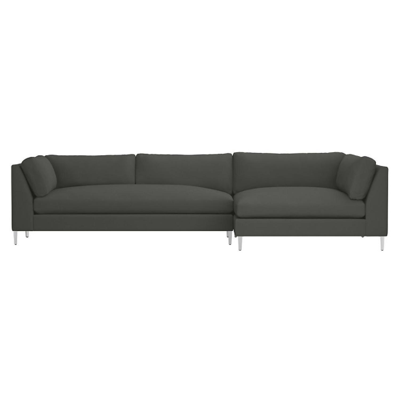 cb2 sectional sofa bed table ebay decker in grey aptdeco