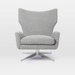 Swivel Chair West Elm Design Spandex Covers Hemming Leather Armchair In Gem Cut Aptdeco