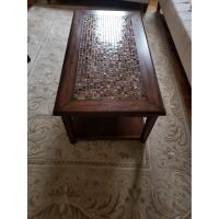 Raymour & Flanigan Wood Coffee Table - AptDeco