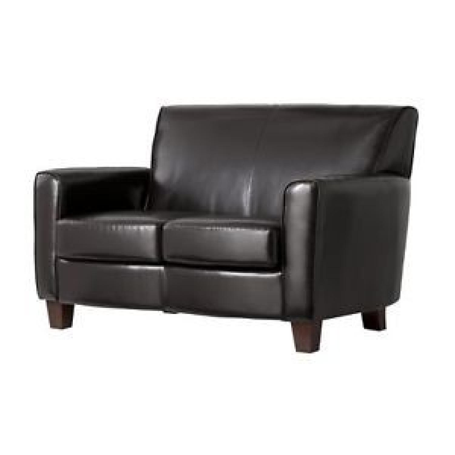Leather Chairs Target Target Threshold Nolan Bonded Leather Loveseat Aptdeco